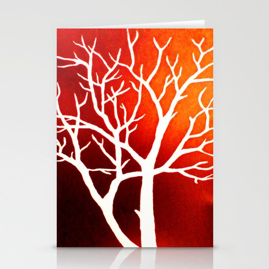 BLAZING TREES Stationery Cards