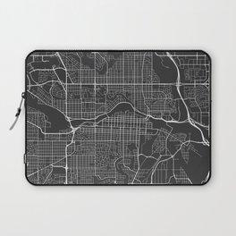 Calgary Map, Canada- Gray Laptop Sleeve