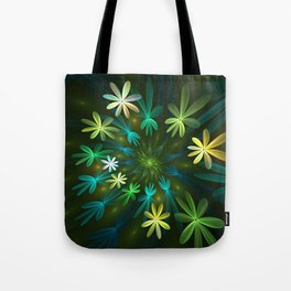 Fantasy Flowers, Fractal Art Tote Bag