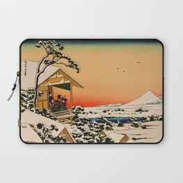 Snow at Koishikawa - Vintage Japanese Art Laptop Sleeve