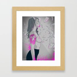 Never trust - Hattie  Framed Art Print