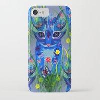 kittens iPhone & iPod Cases featuring Kittens by Sartoris ART