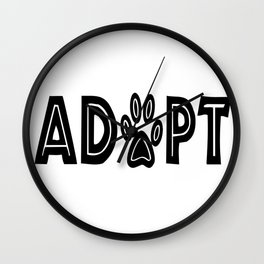 Adopt Paws Wall Clock