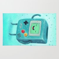 game Area & Throw Rugs featuring Game Beemo by Lime