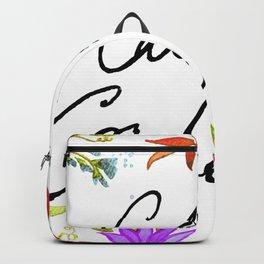 Call Me Cordelia - Purple Flowers Backpack