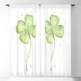 Four Leaf Clover Blackout Curtain