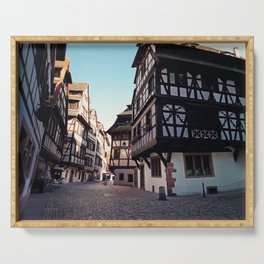 Strasbourg narrow streets Serving Tray
