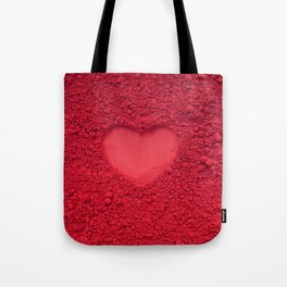 Love symbol with red powder color Tote Bag