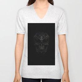 Skulls Black Unisex V-Neck
