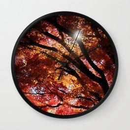 Piercing thru the Shade Wall Clock