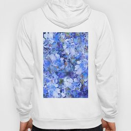 Wild Blue Rose Garden Hoody