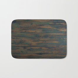 Beautifully patterned stained wood Bath Mat