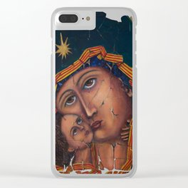 Mother Of God by OLena Art Clear iPhone Case