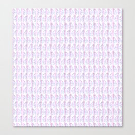 Pink & Blue Boho Print Canvas Print