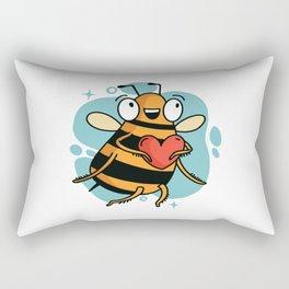 BEE HEART Rectangular Pillow