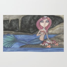 Mermaid art Rug