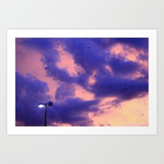 clouds(flying) Art Print