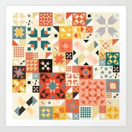 Modern Quilt Pattern Art Print