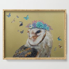 The Butterfly Effect Barn Owl Serving Tray