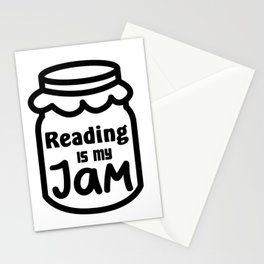 Reading Is My Jam Funny Book Lover Gift Stationery Cards