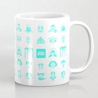 starwars Mugs featuring StarWars icon by SUSANNA CONTOLI