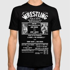 #1-B Memphis Wrestling Window Card Mens Fitted Tee Black SMALL
