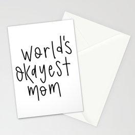 World's Okayest Mom Stationery Cards