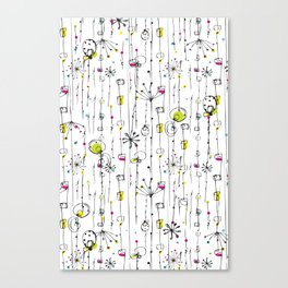 Quirky Icons Canvas Print