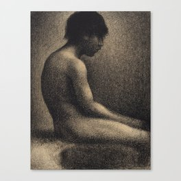 Georges Seurat - Seated Nude Canvas Print