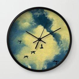 Everett Skies Wall Clock