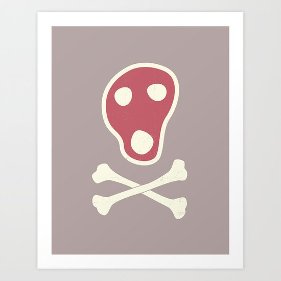 Pirates of Steaks Art Print