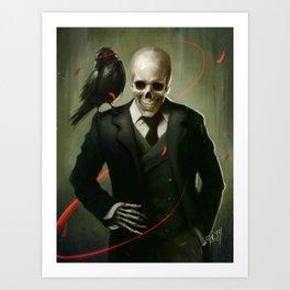 Skully Gentleman Art Print