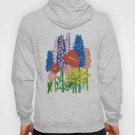 Delphiniums & Anthuriums Hoody