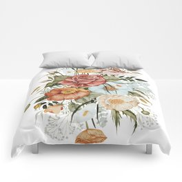 Roses and Poppies Comforters