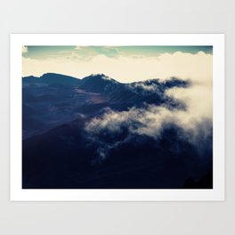 Beyond The Mountain and Cloud Art Print