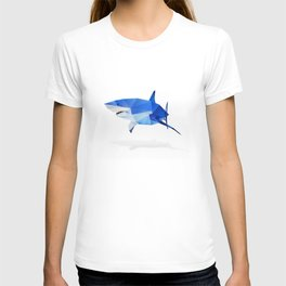 Low Poly Great White T-shirt