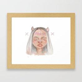 Fresh Girl Framed Art Print