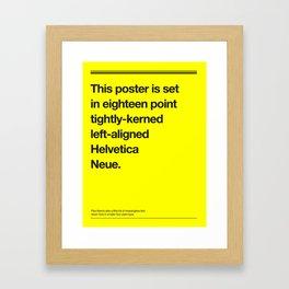 Helveticliche Framed Art Print