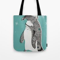 penguin Tote Bags featuring Penguin by Rachel Russell
