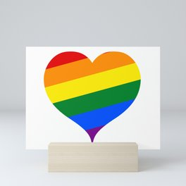 LGBT Rainbow Heart Mini Art Print