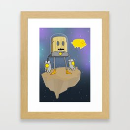 Space Toast Framed Art Print