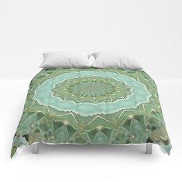 Succulent Mandala Comforters
