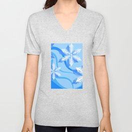 The Flower Abstract Holiday Unisex V-Neck