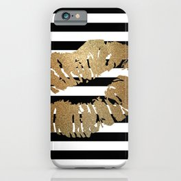 Gold Lips 2 iPhone Case