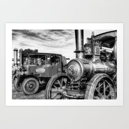 Steam Lorry And Traction Engine Art Print