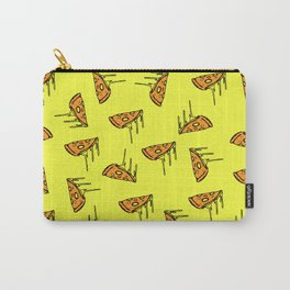 Pepperoni Pizza Dripping Cheese by the Slice Pattern (yellow) Carry-All Pouch