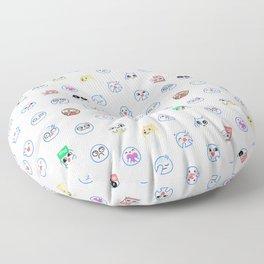mrchowderclam emote pattern Floor Pillow