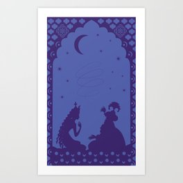 Scheherazade and a thousand and one nights Art Print