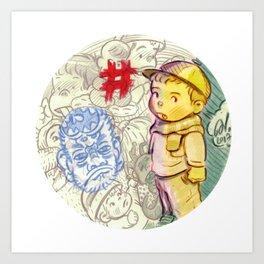 Cap boy:) Art Print