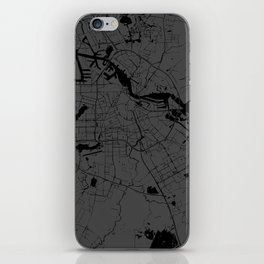 Amsterdam Gray on Black Street Map iPhone Skin